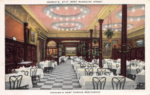 Henrici's, Chicago's Most Famous Restaurant, Early Postcard, Unused