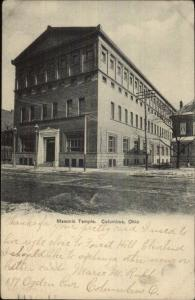 Columbus OH Masonic Temple c1905 Postcard