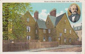 Massachusetts Salem House Of Seven Gables Built 1668