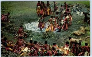 FIJI, SOUTH PACIFIC   Men from Island of Beqa   FIJIAN FIREWALKING  Postcard