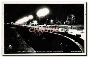 Modern Postcard Arcachon Night lighting