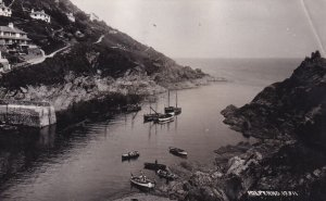 RP; POLPERRO, Devon, England, PU-1934; View Of Fishing Harbour