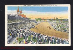 LOUISVILLE KENTUCKY DERBY CHURCHILL DOWNS HORSE RACING RACE POSTCARD 1920's