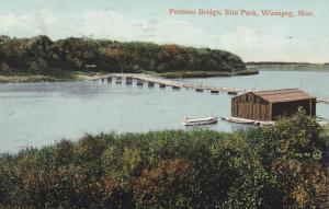 WINNIPEG , Manitoba, Canada, 1900-10s; Pontoon Bridge , Elm Park