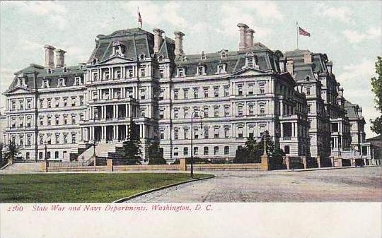 Washington DC State War And Navey Departments