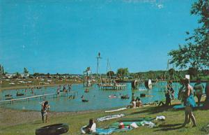 Lakeside Manor Park, Water Wheels, Trampoline Diving Boards, DAVENPORT, Iowa,...