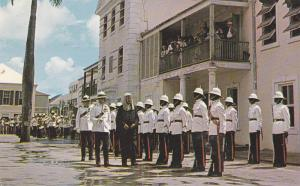 Chief Justice of the Bahamas inspecting the Guard of Honour, Nassau, Bahamas,...