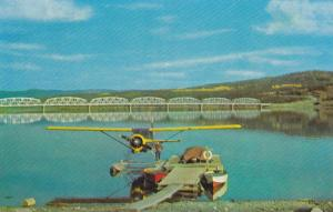 The Nisutlin Bay Bridge crosses Teslin Lake, Yukon,  Canada,  40-60s