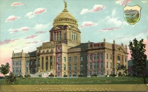 Helena, Montana, Capitol, Coat of Arms (1910s) Gold Embossed