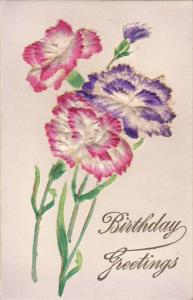 BIRTHDAY, Embossed Carnations, Birthday Greetings, 1900-1910's