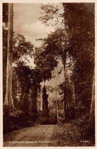 Ghana Gold Coast A Forest Road in Ashanti Postcard