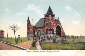National Military Soldiers Home Kansas~Chapel on Hill~1906 Postcard