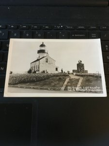 Vintage RPPC Postcard - Old Spanish Lighthouse, cabrillo Monument point loma