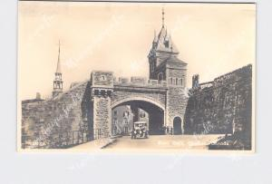 RPPC REAL PHOTO POSTCARD CANADA QUEBEC KENT GATE ANTIQUE CAR