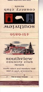 Matchbook Cover ! Southview Country Club, South St. Paul, Minnesota !