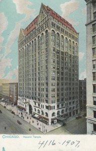 CHICAGO, Illinois, 1901-07; Masonic Temple, TUCK #2206