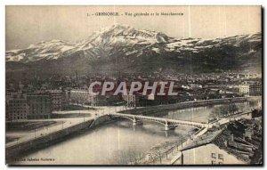 Old Postcard Vue Generale Grenoble and Moucherotte