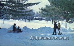 Winter At White Beauty Resort, Lake Wallenpaupack, PA USA Ski, Skiing Postcar...