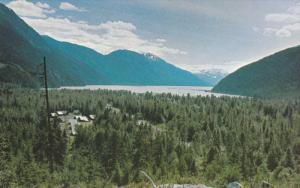 Town Site, Aerial View of Stewart, British Columbia, from Portland Canal, Can...