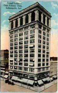 Indianapolis, Indiana Postcard Grand Lodge - Odd Fellows' Bldg Fraternal 1920