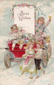 1900-1910s; Best Wishes, Children Celebrating