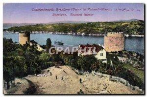 Postcard Old Bosphorus Constantinople Roumeli Hissar Tours