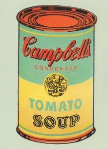 Andy Warhol Campbell's Tomato Soup Can Advertising Postcard