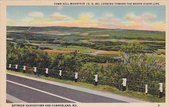 Town Hill Mountain Looking Toward The Mason Dixon Line Between Hagerstown And...