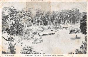 Rep. of Congo Francais, Le Poste de Bangui inonde, flooded 1914
