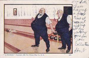 Bowling Humour Fat Men Bowling A Poodle 1906