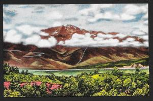 Pikes Peak in the Clouds Colorado Springs Colorado Unused c1930s