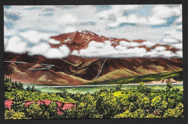 Pikes Peak in the Clouds Colorado Springs Colorado Unused c1930s