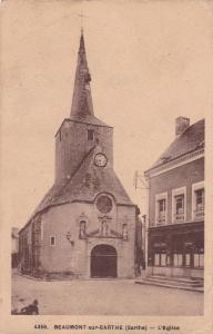 BEAUMONT-sur-SARTHE , France , 1910s-30s ; L'Eglise
