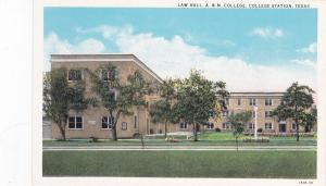 College Station, Texas, 1910's; Law Hall , A&M College