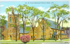 St. Paul's episcopal Church Selma Alabama AL Linen