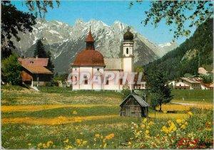 Modern Postcard Seefeld Tirol Seekirchl ge Karwendelspitze