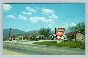 Chattanooga TN, Lockmiller's Motel, Chrome Tennessee Postcard