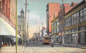 St Catherine Street West of Peel Street Montreal Canada 1910c postcard
