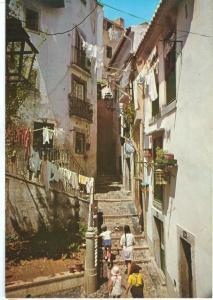 Portugal, Lisbon, Lisboa, Typical Street of Alfama, unused Postcard