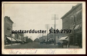 2797 - MIDLAND Michigan 1900s Main Street. Stores