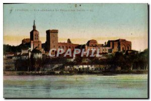 Postcard Old Avignon general view of the Papal Palace
