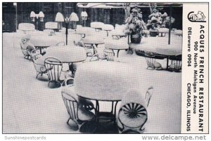 Winter Dining Room Jacques French Restaurant Chicago Illinois 1953