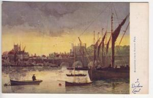 Raphael Tuck Rochester From Strood Pier Ships In Dickens Land Series Postcard