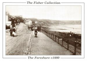 Vintage Reproduction Postcard c1880, The Foreshore Seafront Filey, Yorkshire 99T