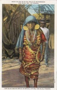 Panama San Blas Indian Bride In Bridal Attire 1938