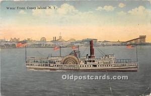 Amusement Park Postcard Post Card Water Front Coney Island, New York, NY, USA...