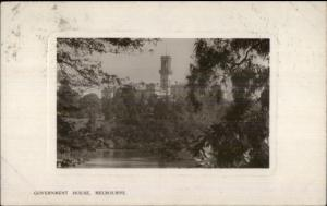 Melbourne Australia Government House c1910 Real Photo Postcard USED