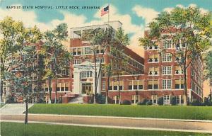 Linen Card of Baptist State Hospital Little Rock Arkansas AR