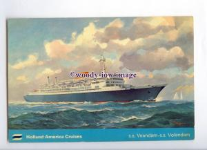 LN1545 - Holland America Liner - Veendam , built 1958 ex Argentina - postcard