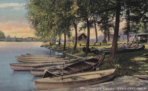 YPSILANTI, Michigan, 1900-1910's; Peninsular Grove, Row Boats